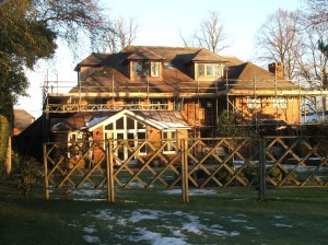 New copper cheek dormer windows to roof conversion currently under construction in Haywards Heath , West Sussex.